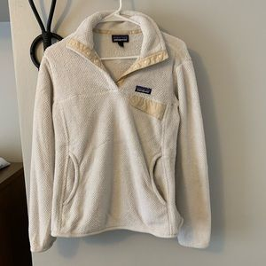 Patagonia re-tool snap-T pullover in cream